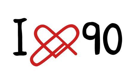 90: love 90 icon