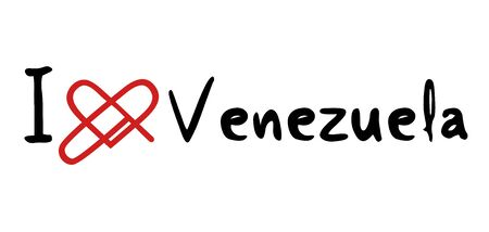 venezuela: Venezuela love icon Illustration