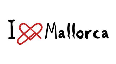 majorca: Mallorca love icon Illustration