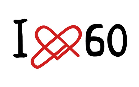 decade: love 60 icon Illustration
