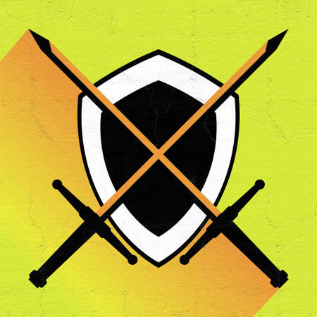 medieval shield: medieval shield icon