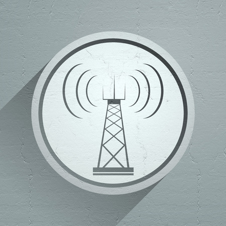 tv tower: Telecommunications tower icon