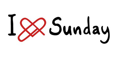 Sunday love icon