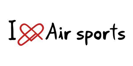 air sport: Air sports love message Illustration