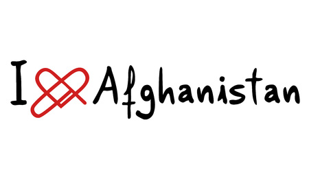 afghanistan: Afghanistan love icon