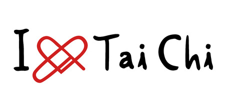 chi: Tai Chi love icon Illustration