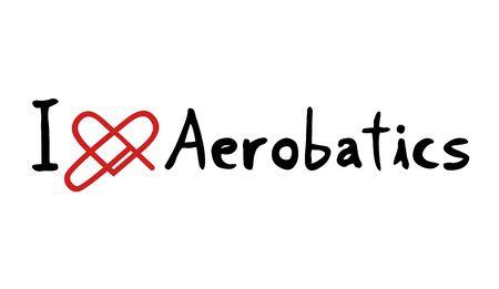 aerobatics: Aerobatics love symbol