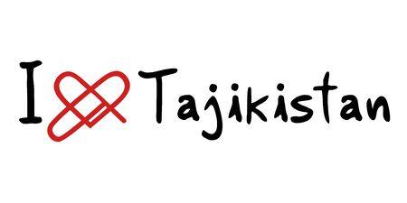 tajikistan: Tajikistan love icon