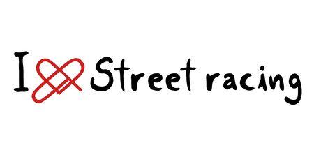 street racing: Street racing love icon