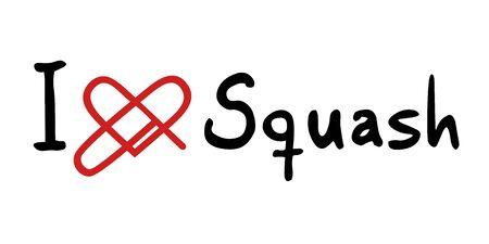 squash: Squash love icon Illustration