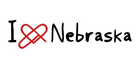 nebraska: Nebraska love icon