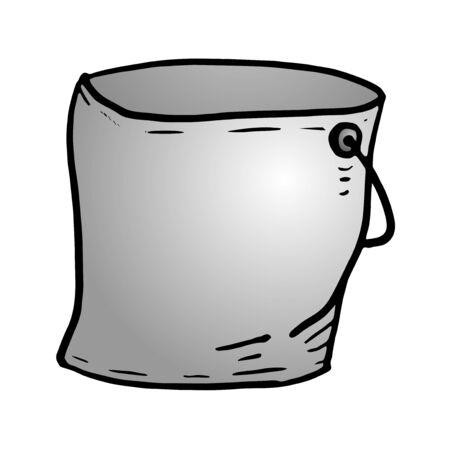 tin: tin bucket