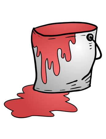 paint container: red paint Illustration