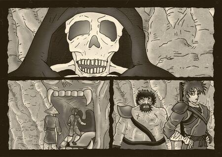 fear: fear skeleton comic page