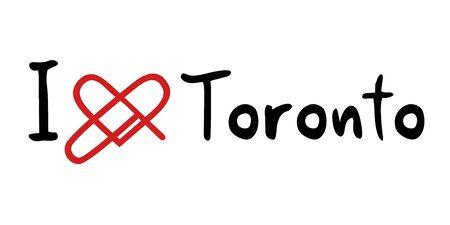 toronto: Toronto love icon Illustration