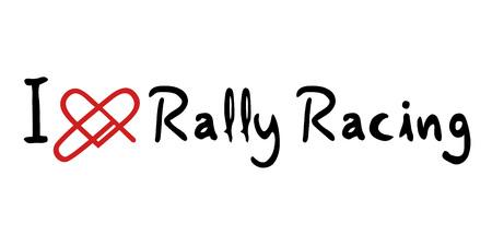 rally: Rally Racing love icon Illustration
