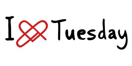 Tuesday love icon Illustration