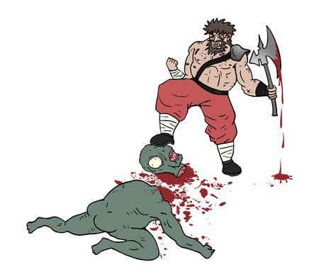 gore: barbarian gore scene