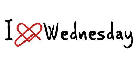 wednesday: Wednesday love message Illustration
