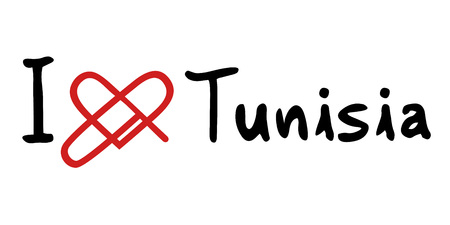 tunisia: Tunisia love icon Illustration