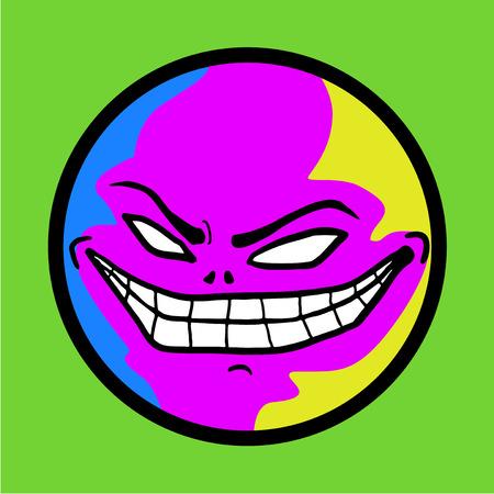 smile face: smile monster face