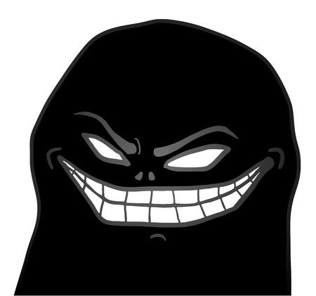 evil face: dark evil face