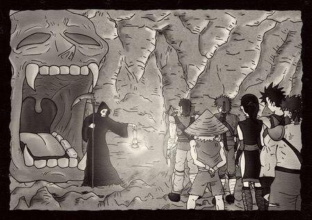 mystery: mystery cavern illustration