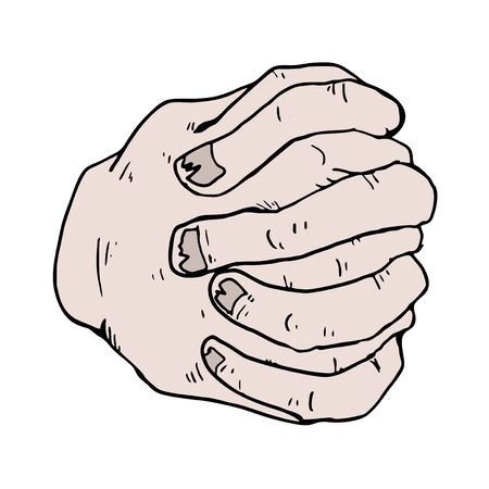 vingers gekruist