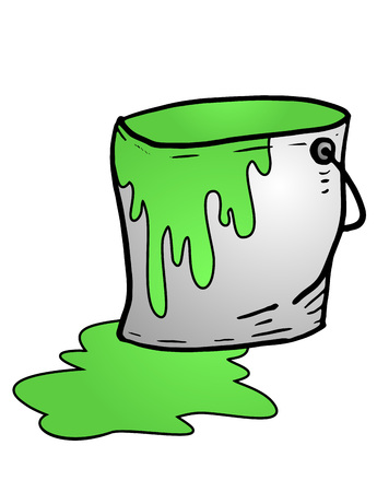 paint container: green paint