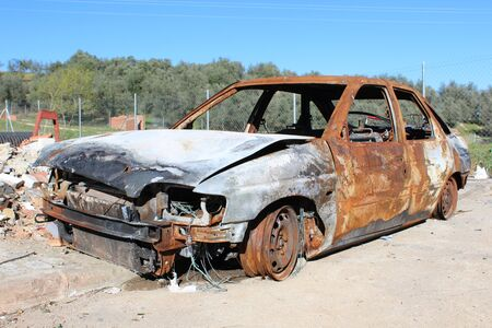 rusty car: rusty car Stock Photo