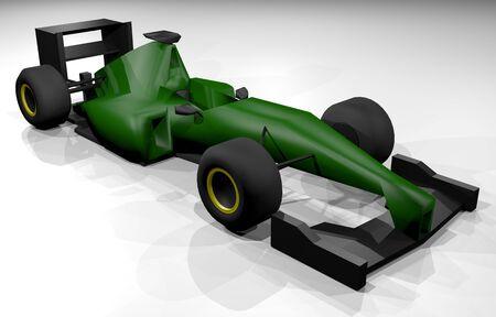 racecar: 3D render car Stock Photo