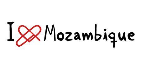 mozambique: Mozambique love icon