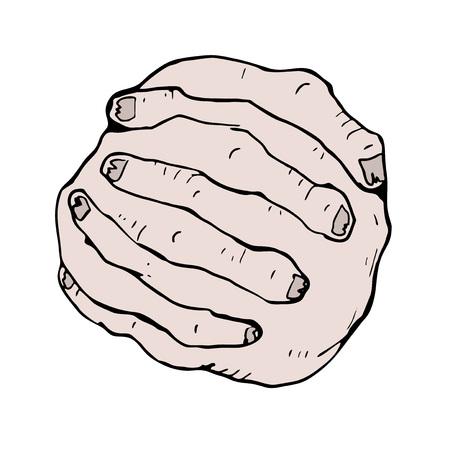 fingers: fingers crossed Illustration