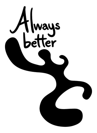better: always better symbol Illustration