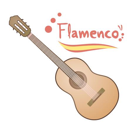 spanish guitar: classic spanish guitar Illustration