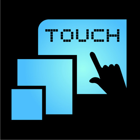touch: touch symbol Illustration