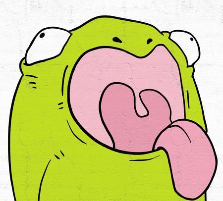 happy: happy frog Stock Photo