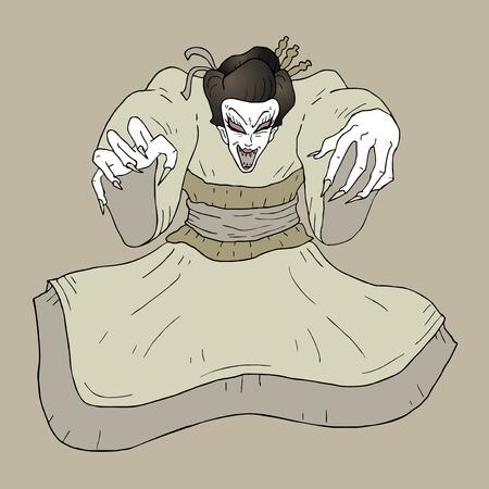 geisha: evil geisha Illustration