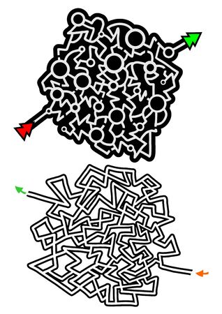 complexity: two mazes illustration