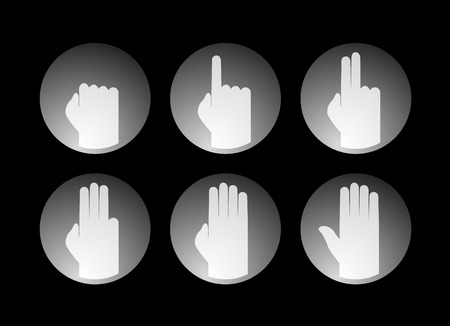 two point: hands counting symbol Illustration