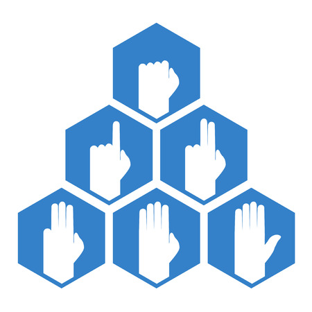 counting: hands counting symbol Illustration