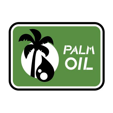 palm oil: palm oil symbol Illustration