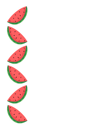 summery: watermelon illustration
