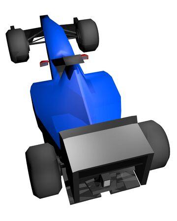 render: Blue render car Stock Photo