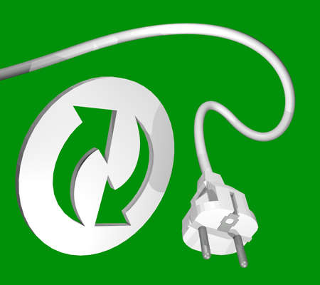 plug in: recycle energy symbol
