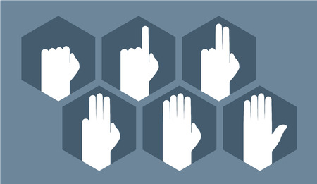 web 2 0: hands counting symbol Illustration