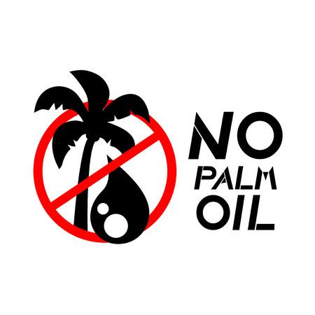 palm oil: No palm oil sign Illustration