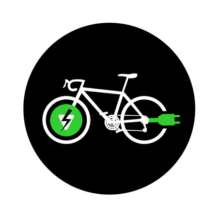 electro: electro bike symbol Illustration