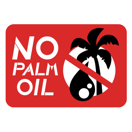 no cholesterol: No palm oil sign Illustration