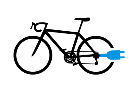 Electro Bicycle Bike E Bike Icon Set On White Background Royalty